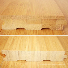 Plancher en bambou solide horizontal naturel de couleur