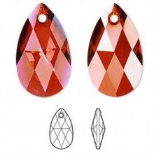 Kristall facettierte Tropfen Anhänger, Kristallperlen für Hochzeitskleid