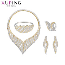 set-72 xuping suministros de joyería al por mayor de plata 925 mujeres de moda de lujo conjunto de joyas