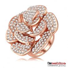Full Rhionestone Rose Flower Big Finger Rings (Ri-HQ0049)