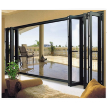 Soundproof double tempered glazed nigeria folding door