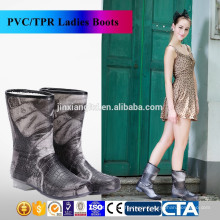 JX-995BE New Fashion rain boots Environmental latest design Warm ladies rain boots