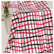 Knitting fabric print polyester DTY crepe bubble fabric