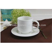 Фарфоровая круглая круглая чашка кофе кружки и блюдце
