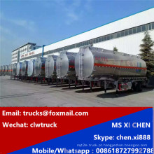 45cbm combustível bruto óleo Diesel petróleo transporte tanque Semireboque