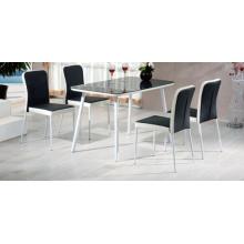 Quarto moderno mobiliário desenhos de mesa de jantar vidro temperado mais barato