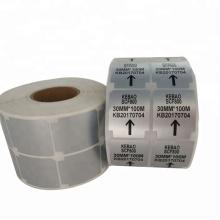 Étiquettes en vinyle code-barres imperméables permanentes et imperméables sur mesure en polyester polyester argent mat
