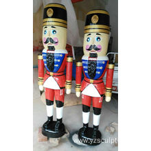 Fiberglass A Pair Nutcracker Sculpture For Sale