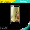 Protector de cristal moderado Icheckey de la pantalla de Shenzhen para la cubierta completa de Huawei P9 2.5 D