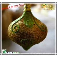 Décoration en forme d'oignon brillant de Noël en stock