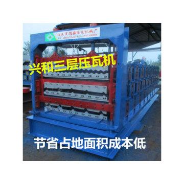 Máquina formadora de chapa para telhado de vidro automático para venda