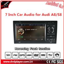 Pantalla táctil de 7 pulgadas HD, DIN doble, navegación del coche DVD GPS del OS 5.1 del androide para Audi A8 / S8