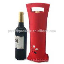 Rot Günstige Eco freundliche Weinflasche Taschen