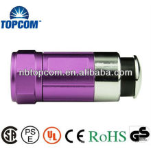 Multicolor 12v car rechargeable flashlight led mini torches