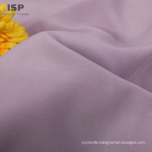 In stock solid woven 120gsm plain dyed rayon poly fabric for dresses
