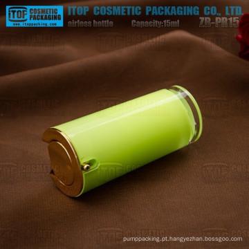 ZB-PR15 15ml dura e grossa parede dupla do atarraxamento cosmético acrílico sem ar frasco redondo