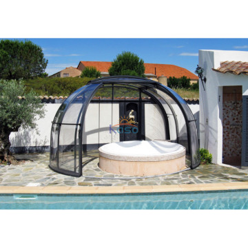 Pool Cover Spa Tienda inflable de cúpula blanca Gonflable