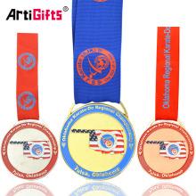 Usa Oklahoma Custom Metal Karate Medal Trophies Awards