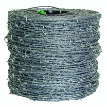 Double Twisted Galvanized Barbed Wire in Coil on Amazon & Ebay