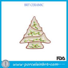 Crearive Tree Shaped Ceramic Devided Plate
