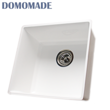 New undercounter scratch resistant white single bowl sinks