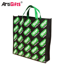 Fabricant non tissé promotionnel de sacs à provisions, sac non tissé pliable réutilisable par coutume de pp