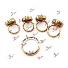 Alloy Stock Supply Floating Lockets / Glass Living Locket Ring (SFL51024)