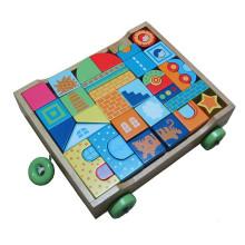 Pädagogisches Spielzeug Bausteine Wagen für Kinder