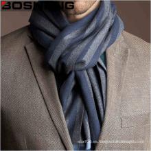 Lencería de lana tejida jacquard para hombre con rayas de bloque