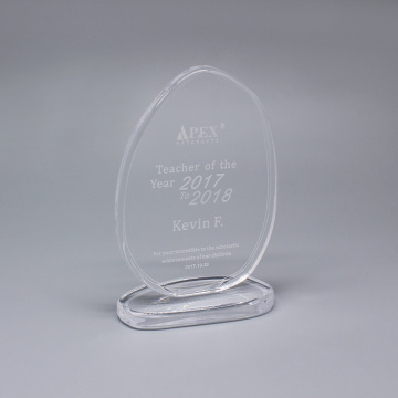 Unique Glass Plaque Award dan Crystal Trophies