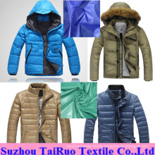 Nylon Taffeta Fabric with Waterproof and Calendered for Down Jacket