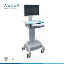 AG-WT002A Hospital usó estación de trabajo móvil con ajuste de altura, computadora de la computadora, carro