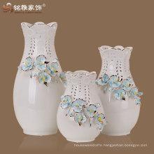 hot sale good quality elegant design ceramic wedding vase centerpiece