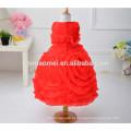 Nova moda baby girl 3D flor menina vestido 2017 hot vender colorido novo modelo de vestido da menina para o casamento e festa