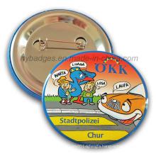 Promotion Cartoon Tin Badge Offset Printing Badge (HY-MKT-040)