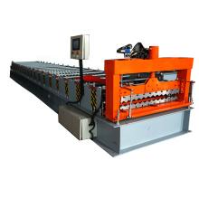 Les prix d'usine faisant le rouleau de tuile ondulé de toiture en métal de panneau de mur de matériau de construction formant la machine à vendre