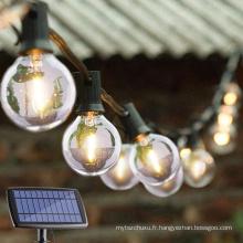 Éclairage solaire de Noël de vacances de lumière de ficelle