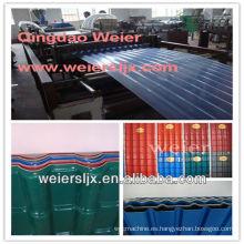 máquina de fabricación de techo corrugado de tres capas