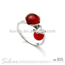 Charm ruby jewelry bijoux en argent sterling