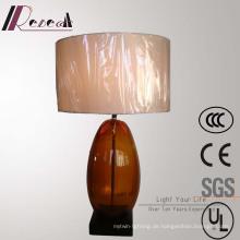 Antikes Hotel Dekorative Bronze Glas Nachttischlampe