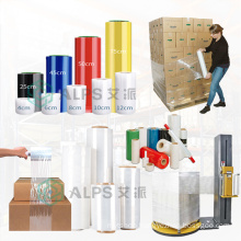 Alps LLDPE Shrink Wrap Pallet Wrapping Film Blue Stretch Film 20 Micr Transparent