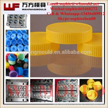 Fábrica de ventas directas de garantía de calidad de alta calidad cosmética tapa de botella molde / alta calidad tapa de plástico molde