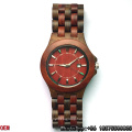 Top-Quality Red Sandalwood and Black Wood Quartz Watches Hl01