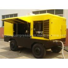 Compresseur d'air rotatif à vis rotatif mobile à moteur diesel (TDS-21/20 250kw)