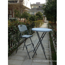 Outdoor Used Plastic Folding Bar Table and Chair