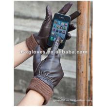 Guantes de cuero de la pantalla táctil para Iphone
