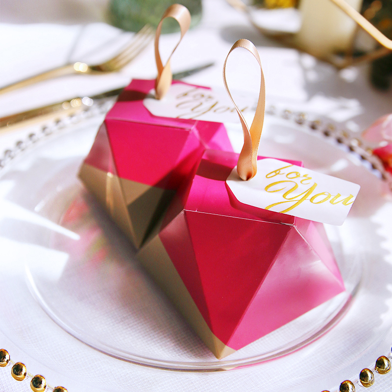 New design indian wedding candy boxes