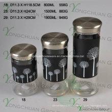 2015 Heiße verkaufende Qualitäts-Feuchtigkeit-Beweis-Glasflaschen versiegelte Glas-Glas-Imbiss-Milch-Speicher-Glas-Kanister-Satz
