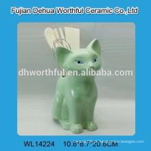 Popular, verde, fox, cerâmico, utensílio, suporte, cozinha
