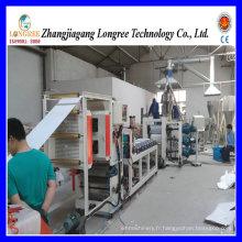Machine de production de feuille de PVC de haute qualité (0.4-2.0mm) avec la formulation